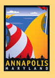 Annapolis Sails Notecard by Joe Barsin, 5x7