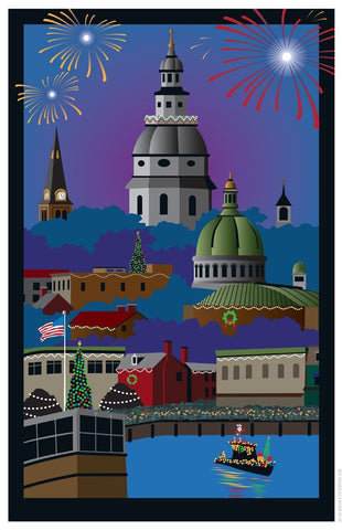 Annapolis Holiday Art Print by Joe Barsin, 11x17