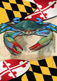 Maryland Blue Crab Garden Flag by Joe Barsin, 12x18