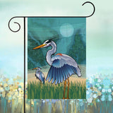 Display of Coastal Blue Heron of the Chesapeake Garden Flag by Joe Barsin