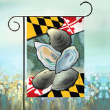 Display of Maryland Oysters of the Chesapeake Bay Coastal Garden Flag by Joe Barsin