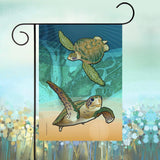 Display of Coastal Sea Turtle of the Atlantic Garden Flag by Joe Barsin