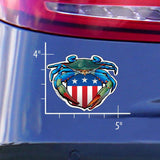 Measurements of Blue Crab USA Crest Sticker