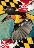 Maryland Oriole Garden Flag by Joe Barsin, 12x18