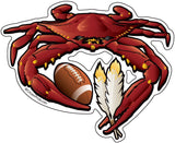 Washington Sports Crab Football, Large Decal