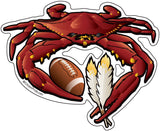 Washington Sports Crab Football Sticker, 5x4