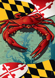 Maryland Red Crab Large House Flag by Joe Barsin, 28x40