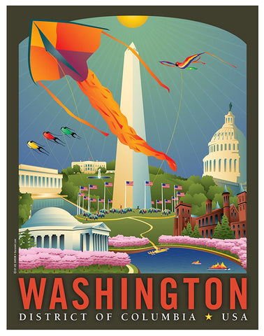 Washington DC: Springtime Art Print by Joe Barsin, 11x14