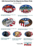 USA theme Oval Magnets, 6x4, collection