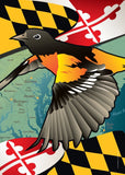 Maryland Oriole Large House Flag by Joe Barsin, 28x40