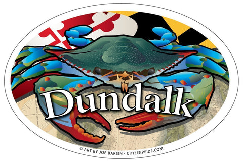 Dundalk Maryland Blue Crab Oval Magnet, 6x4