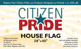 USA Silver Lab Large House Flag by Joe Barsin, 28x40, header front