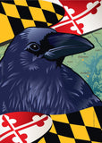Maryland Raven Garden Flag by Joe Barsin, 12x18