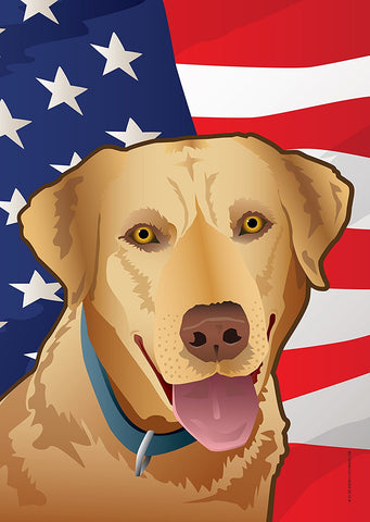 USA Yellow Lab Large House Flag by Joe Barsin, 28x40