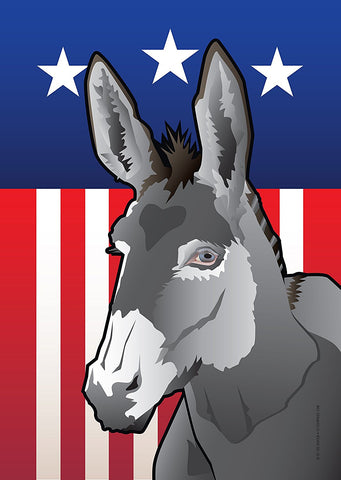 USA Donkey Garden Flag by Joe Barsin, 12x18