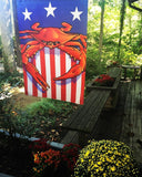 Display of USA Crab Large House Flag by Joe Barsin