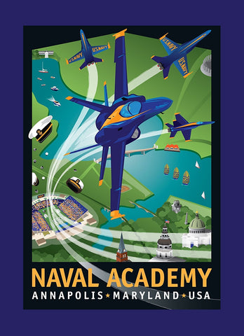 Blue Angels: Naval Academy Notecard by Joe Barsin, 5x7