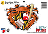Packaging of Oriole Baseball Crab Maryland Crest Sticker