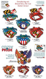 Citizen Pride sticker collection