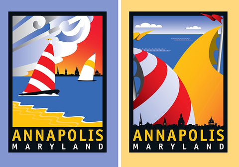 Annapolis Coastal card pack of 10, 5 of each design, 5x7