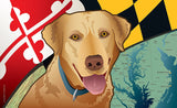 Maryland Yellow Lab Door Mat by Joe Barsin, 30x18