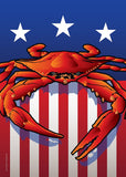 USA Crab Large House Flag by Joe Barsin, 28x40