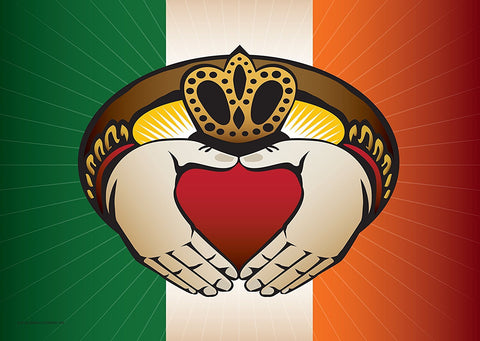 Irish Claddagh Large House Flag by Joe Barsin, 40x28