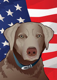 USA Silver Lab Large House Flag by Joe Barsin, 28x40