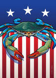 USA Blue Crab Garden Flag by Joe Barsin, 12x18