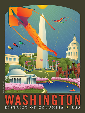 Washington DC: Springtime Art Print by Joe Barsin, 18x24