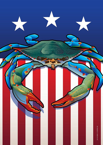 USA Blue Crab Large House Flag by Joe Barsin, 28x40