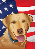 USA Yellow Lab Garden Flag by Joe Barsin, 12x18