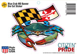 Blue Crab Maryland Banner Sticker package