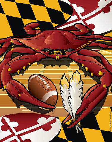 Sports Crab Redskins Poster Art Print by Joe Barsin, 12x14