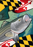 Maryland Rockfish Garden Flag by Joe Barsin, 12x18