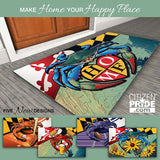 "Maryland Blue Crab ""Home"" Door Mat by Joe Barsin, 30x18"