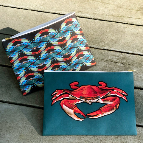 Accessory Pouch: Red Crab by Citizen Pride