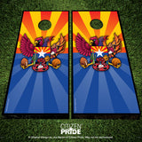Arizona Sports Fan Crest Cornhole Boards, 24x48""