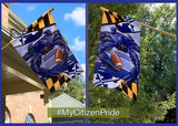 Fan photo of our Baltimore Ravens Sports Crab flag
