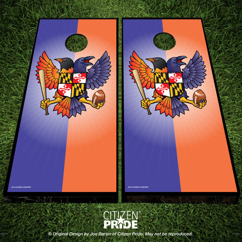 Birdland Maryland Crest Cornhole Boards, 24x48""