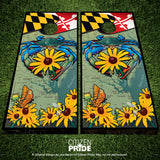 MD Blue Crab Black-Eyed Susan Cornhole Boards, 24x48""