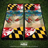Maryland Blue Crab Cornhole Boards & Vinyl Skin Wraps, 24x48""