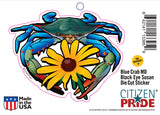 Blue Crab Maryland Black-Eyed Susan Sticker card, 6x5