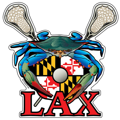 Blue Crab Maryland LAX Sticker, 4.5x4.5