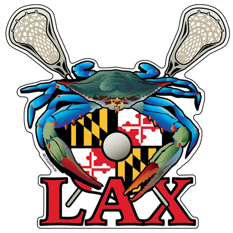 Blue Crab Maryland LAX, Large Decal