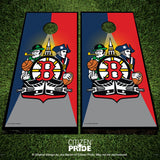 Boston Sports Fan Crest Cornhole Boards, 24x48""