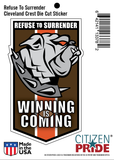 Refuse To Surrender Cleveland Browns Bulldog Sticker package