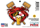 Package of Maryland Crab Feast Crest with mallets, craft beer and steamed crab