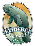 Manatee Florida Crystal River sticker decal die cut vinyl, 3.7x5.1