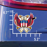 5.2x4.7 sticker with Washington Nationals, Capitals, Redskins Sports Fan Crest